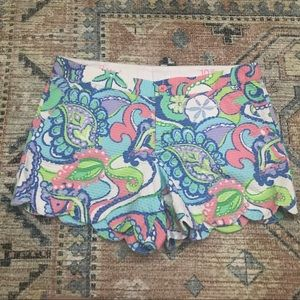 Lilly Pulitzer Buttercup Shorts Pink Green Blue 10